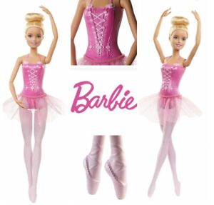 Barbie Ballerina Doll You Can Be Anything Tutu Sculpted Pointed Ballet Shoes NEW