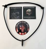 Black Ops.. Sniper HOG Tooth  .30 Cal ..Paracord Necklace +1 Decal ....Black