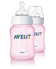 PHILIPS AVENT CLASSIC FEEDING BOTTLE DOUBLE PACK 2 X 260ml / 9oz SCF684/27 PINK