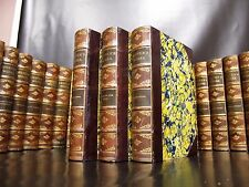 JAMES FENIMORE COOPER Leather 27 vol Set ANTIQUE BOOKS Last of the Mohicans RARE