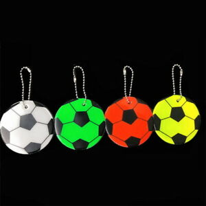 2pcs Kids Safety Reflective Key Rings High Visibility Bag Football Safety School