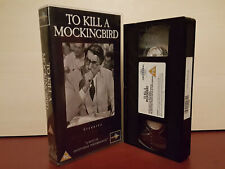 To Kill A Mockingbird - Gregory Pack- PAL VHS Video Tape - (T4)