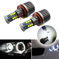 2x White H8 12-CREE LED Angel Eye Ring Marker Light Bulbs For BMW 1 3 5 X Series