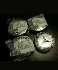 4x Blue Mercedes Benz Wheel Centre Caps 75mm Badges - Fits All A B C E ML Class