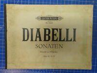 Diabelli Sonaten Opus 32,33,37 Edition Peters Nr.2443a Klavier 4 Händen  B-25052