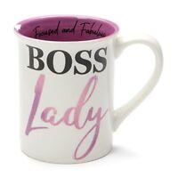 Our Name Is Mud Boss Lady Goal Digger Stoneware Mug, 16 oz, Purple