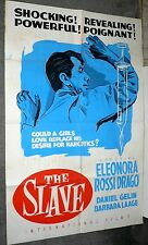 THE SLAVE 1953 Exploitation poster DANIEL GELIN/DRUGS original one sheet 27x41