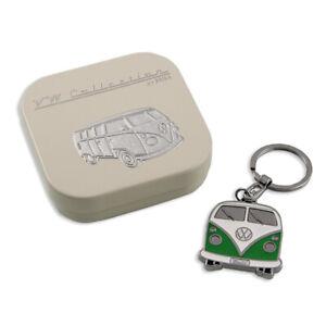 VW T1 Bus Key Ring in Gift Tin - green