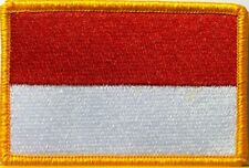 MONACO Flag Embroidered Iron-On Patch Military Tactical Emblem Gold Border