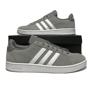 Adidas Grand Court Mens Size 13 Gray Athletic Casual Skateboarding Shoes