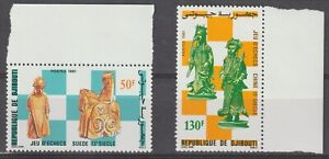 Djibouti 1981 #535-36 Chess pieces - MNH
