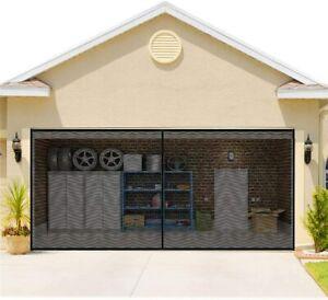 Double Garage Door Screen Magnet 16x7FT Fireproof Insect Bug Mesh