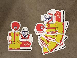 McDonalds KFC Robot style sticker pack x 5