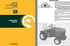 John Deere 210, 212, 214 and 216 Lawn & Garden Tractors (Serial No. 95,001-