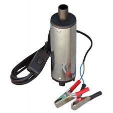 Pompa Travaso Liquidi Elettrica Carburante Acciaio Gasolio Acqua Auto 12V 469