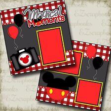 Magic Moments Camera - 2 Premade Scrapbook Pages - EZ Layout 2237