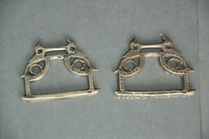 2 Pc Old Brass Handcrafted Peacock Crafted Unique Horse Stirrup / Footrest