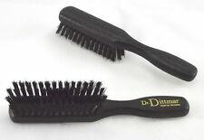 KLEINE Haarbürste mit NATURBORSTEN Buchenholz gebeizt Taschenbürste DR. DITTMAR