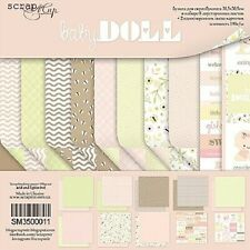 """12"""" x 12"""" scrapbooking paperpad cardstock Baby Doll 10 sheets 190gsm"""