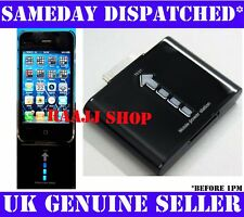 EXTERNAL PORTABLE EMERGENCY BATTERY CHARGER FOR IPHONE 3GS 4 4G 4S 1 Yr Warranty
