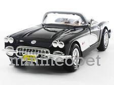 MOTORMAX 73216 1959 59 CHEVY CORVETTE CONVERTIBLE 1/24 DIECAST BLACK