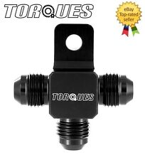 AN -6 (AN6 JIC -6) Flare Tree T Piece With Lug Adapter Fitting In Black