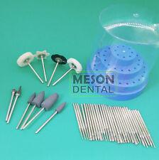 41ps Dental Diamond Tungsten silicon rubber Burs Drill Polisher Case 2.35mm PII