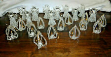 New ListingSpun Glass Angels Candles Christmas Ornaments Lot 0f 24