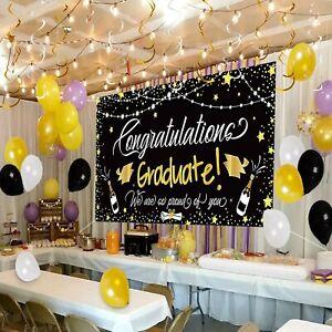 Congratulation Graduation Decorations Home Party Supplies Background