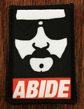 """The Dude """"Abide"""" Morale Patch Tactical ARMY Hook Military Army USA Flag Lebowski"""