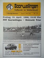 Programm 1991/92 FSV Saarwellingen - Eintracht Trier