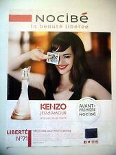 PUBLICITE-ADVERTISING :  NOCIBE Jeu d'Amour KENZO  2015 Louise Bourgoin,Eau de T
