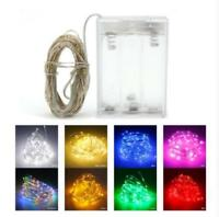 20/50/100 LEDs AA Battery Operated Mini LED Copper Wire String Fairy Lights 10M
