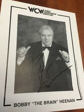 Bobby 'The Brain' Heenan WCW Promo Autographed Signed 8x10 Photo WWE 1996