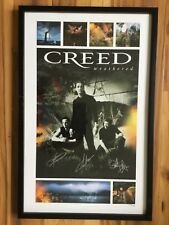 "2001 Creed Weathered autographed by all 3 Framed lithograph 17"" x 26"" #572/750"