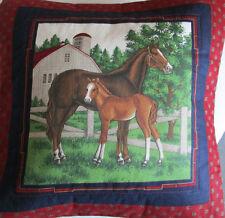 Landhaus Kissen Hülle liebevolle Handarbeit Pferd Pferde Handarbeit 40x 40 cm