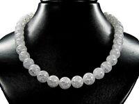 Schöne Halskette aus Edelstein Bergkristall in Kugelform Ø-12 mm