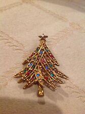VINTAGE EISENBERG CHRISTMAS TREE PIN ~ CLASSIC~