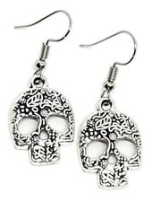 Skull Earrings  Silver Tone UK Seller