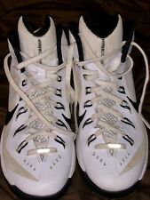 Women's 9 Nike Hyperdunk White Black High Top Basketball Tennis Shoes 653484-100