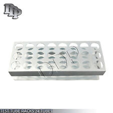 TEST TUBE RACKS 24 TUBES ALUMINIUM LAB SUPPLIES