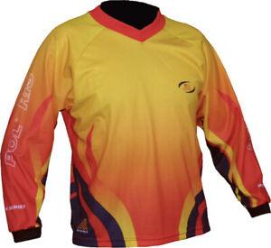 Polaris MX Kids Long Sleeve Jersey: Flame Red Large