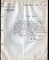 """AINAY-le-CHATEAU (03) Ets de TRAVAUX PUBLICS """"A. PERINAUX"""" en 1910"""