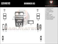 Fits Hummer H3 2006-2010 Basic Premium Wood Dash Trim Kit