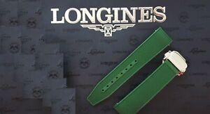 Genuine Ø41 Longines HydroConquest Green L3 21mm L682 rubber strap band bracelet