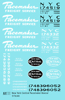 K4 O Decals New York Central Pacemaker Boxcar