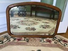 American Arts and Crafts Movement Oak Beveled Glass Wall Mirror C. 1900