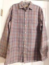 Men's Plaid Sonoma From Kohl's Long Sleeve Button Up Shirt Size LT Large Tall