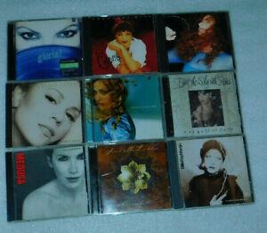 Gloria Estefan Madonna Mariah Carey Annie Lennox Sarah McLachlan CD Lot 9