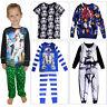 Official Disney Star Wars Kids Pyjamas Boys 2 Piece All In One Lounge Nightwear